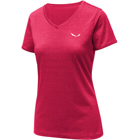 Salewa Puez 2 Dry S/S Tee Women Rose Red Melange